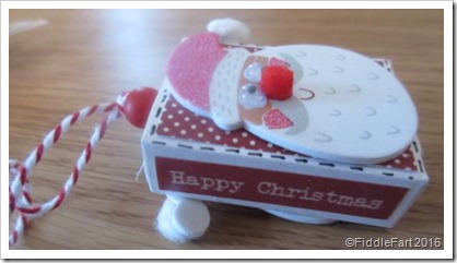 Santa Matchbox Christmas Tree Decoration.