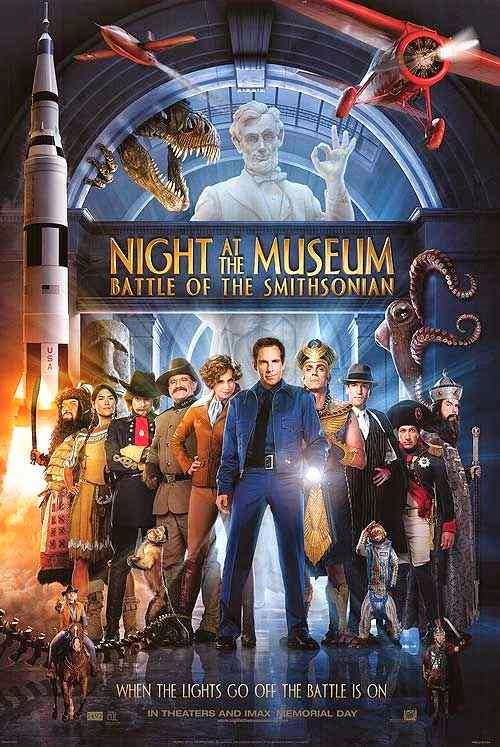 Poster Of Night at the Museum 2: Battle of the Smithsonian (2009) Full Movie Hindi Dubbed Free Download Watch Online At Alldownloads4u.Com