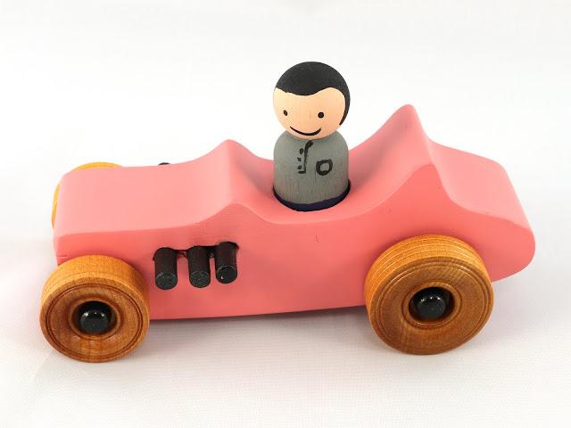 Handmade Wood Toy Car Hot Rod 1927 T-Bucket