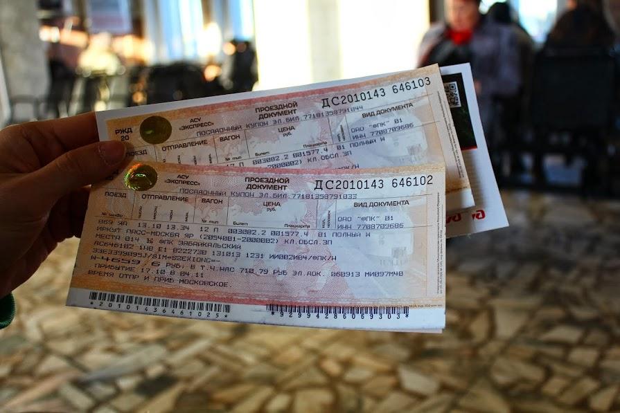Trans Siberian train tickets