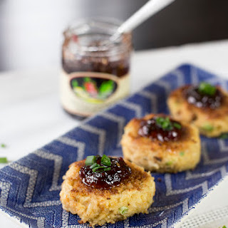 Crab Cakes with Spicy Pepper Jelly.
