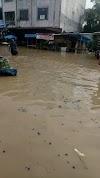 Sungai Padang Kota Tebing Tinggi Meluap, Aktifitas Pasar Inpres Terganggu