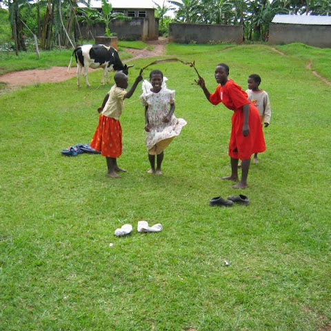 Skipping games in a Ugandan school