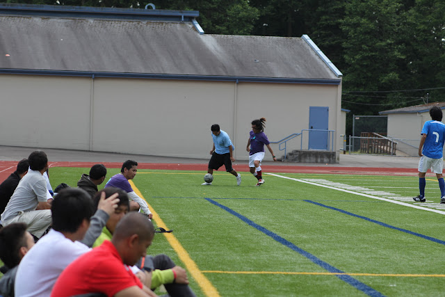 Soccer tournamet btw Seattle and Portland at Kellogg Middle School.