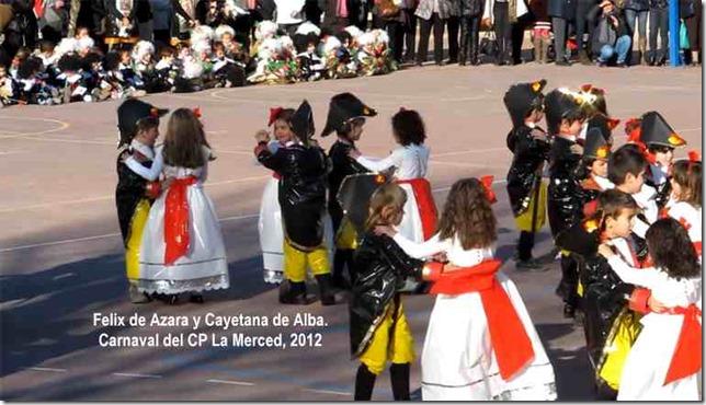Felix de Azara y Cayetana de Alba. Carnaval del CP La Merced, 2012 1