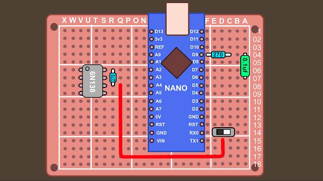 Synth build guide MIDI circuit 7