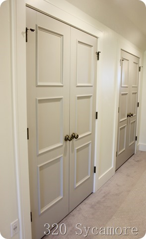 gray doors in hall