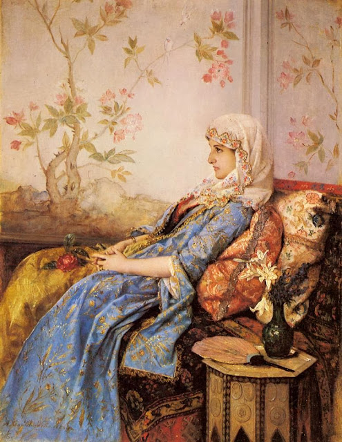 Auguste Toulmouche - An Exotic Beauty in an Interior