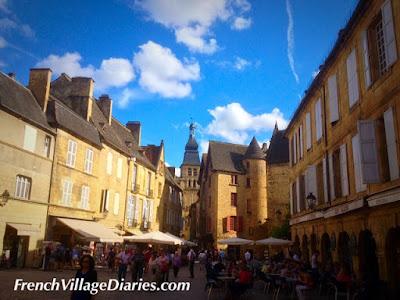 French village diaries Mini Cooper road trip Sarlat Dordogne