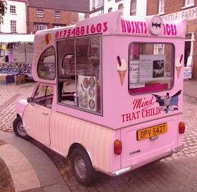 small pink mini ice-cream van