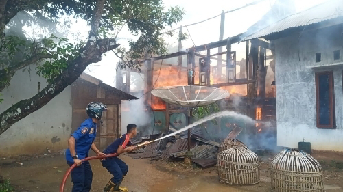 Kebakaran di Ibuh, Damkar Payakumbuh Kerahkan Seluruh Armada