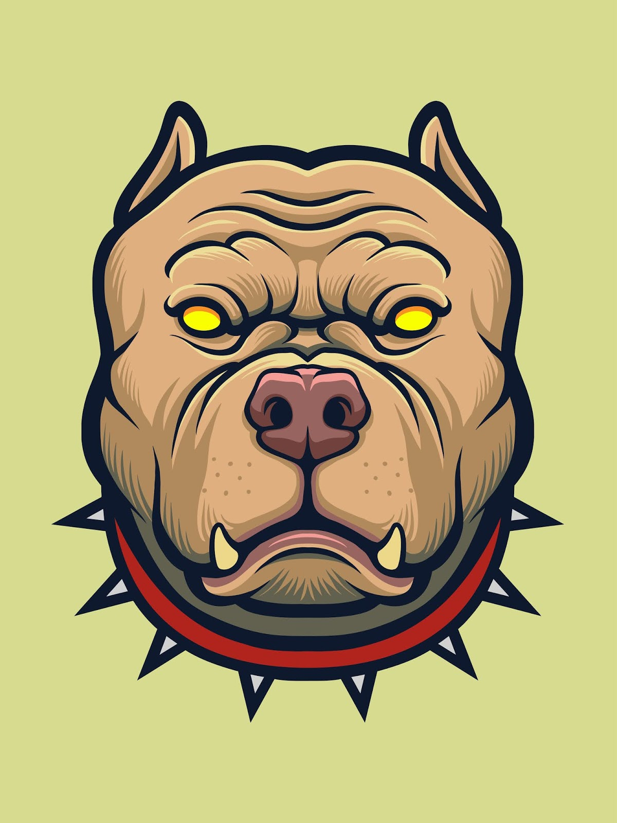 Angry Pitbull Dog Free Download Vector CDR, AI, EPS and PNG Formats