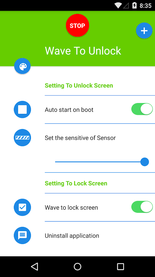 how to change apps on unlock screen android
