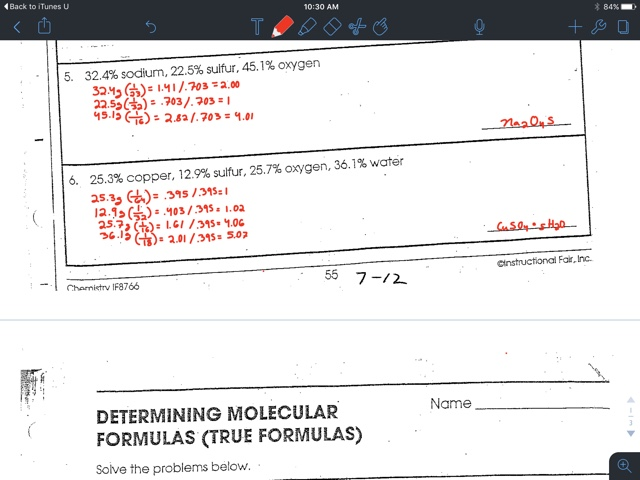 Gavin Gutowsky Chemistry Blog Empirical Formula Worksheet