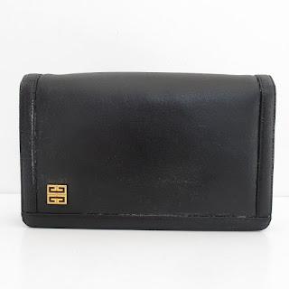 Givenchy Vintage Black Leather Shoulder Bag
