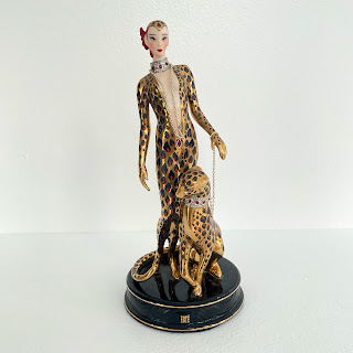 House of  Erte Franklin Mint Limited Edition Leopard Figurine