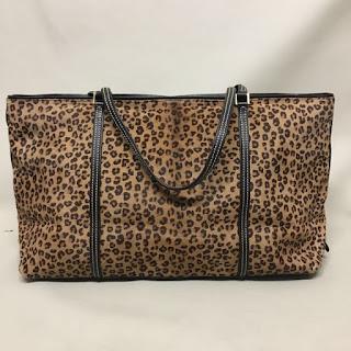 Lambertson Truex Leopard Print Fur Tote