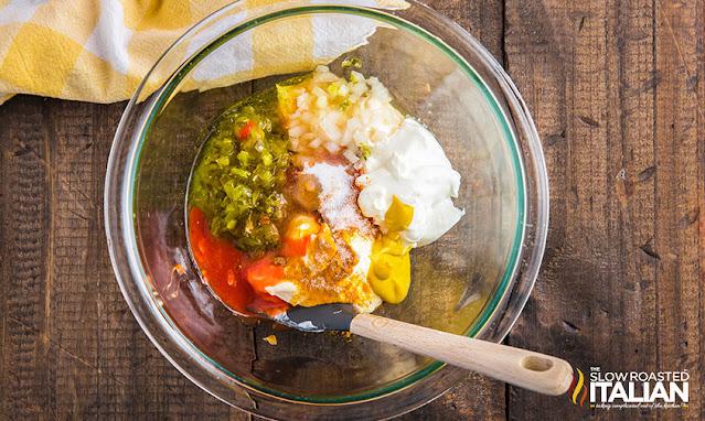 Homemade big mac sauce in a bowl