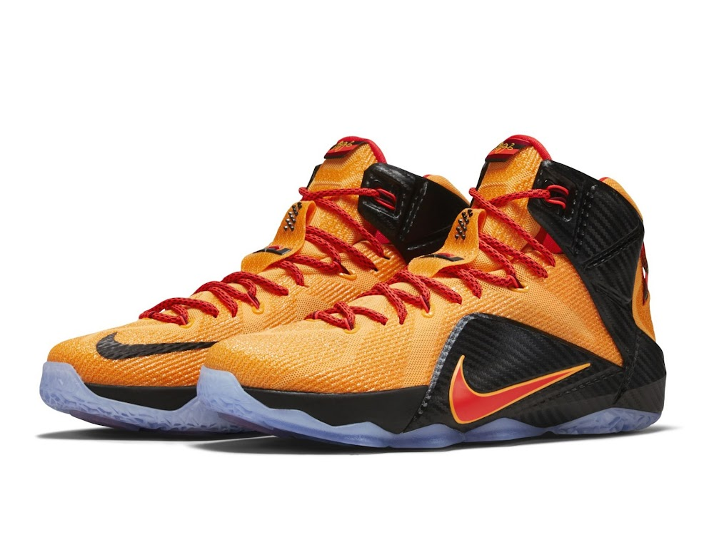 ee0c1653f5660 Official Look at Upcoming 8220CLE8221 Carbon Fiber Nike LeBron 12 ...