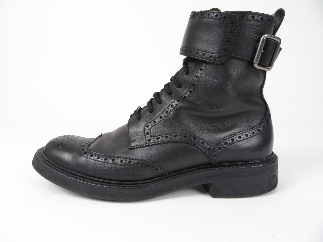 Louis Vuitton Black Leather Ankle Brogues