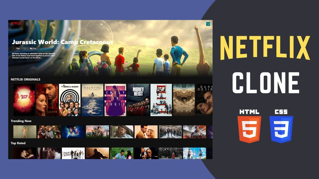 Build Responsive Netflix Clone with HTML and CSS | Step by Step Tutorial