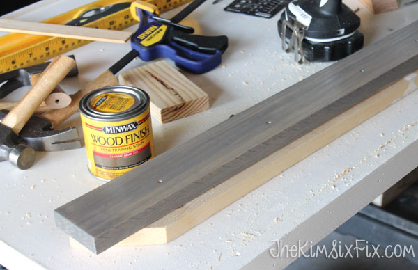 Staining with grey woodstain