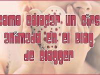 Cómo colocar un Gifs animado en el Blog de Blogger