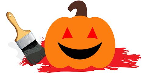 Halloween värityskuva