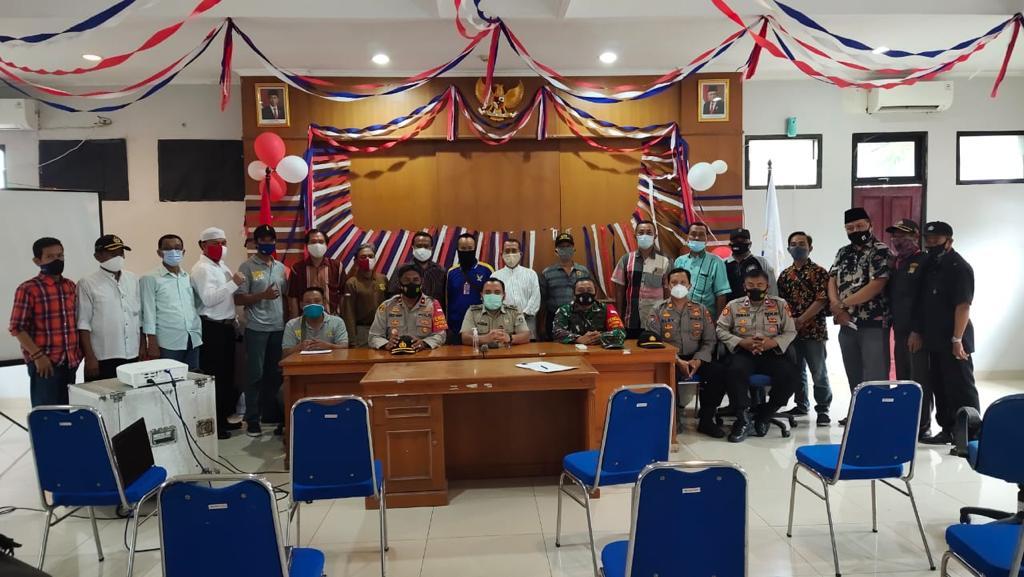 Edukasi Prokes, Danramil Bersama Kapolsek Cilincing Anjangsana Wilayah