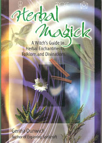 Cover of Gerina Dunwich's Book Herbal Magick A Witchs Guide to Herbal Enchantments Folklore and Divinations