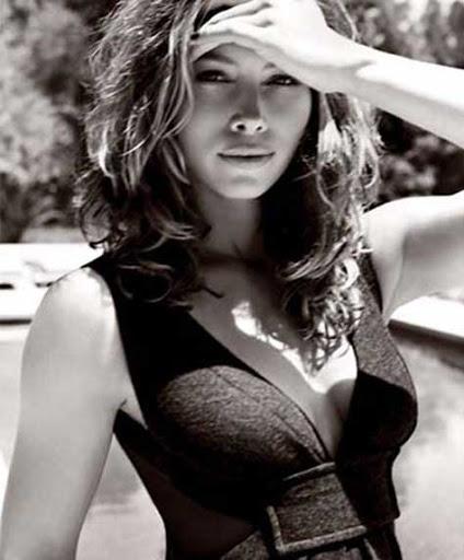 Jessica Biel en blanco y negro