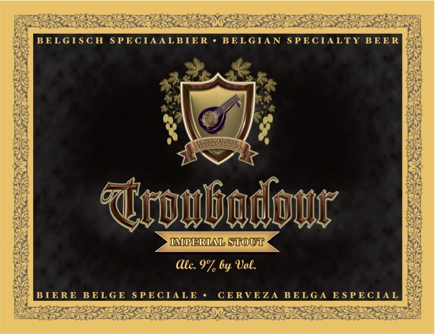 Logo of Musketeers Troubadour Imperial Stout