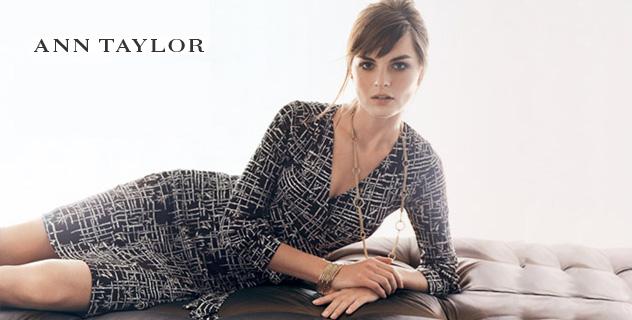 """72439520c A ANN TAYLOR tem uma pegada mais """"Business women"""" (mulher de negócios), os  preços são mais salgadinhos e os vestidos de festa podem chegar aos  U$1000,00!"""