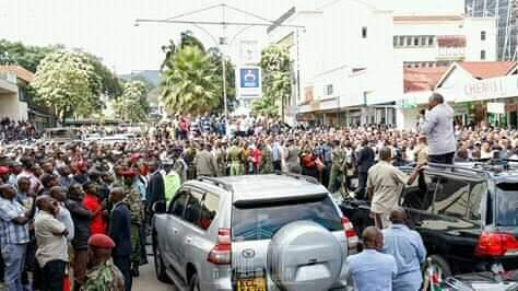 President Uhuru Kenyatta visits Nakuru town. PHOTO   BMS