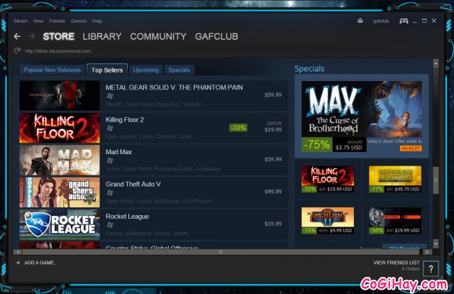 Mua game trên Steam