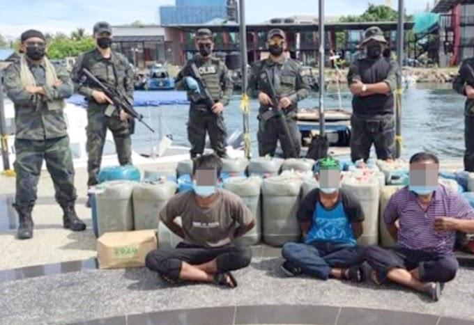 Tiga individu ditahan cuba seludup keluar minyak petrol