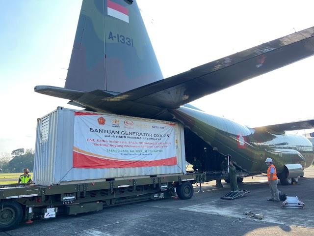 TNI Kirim Bantuan Oxygen Generator Untuk Rumah Sakit di Wamena