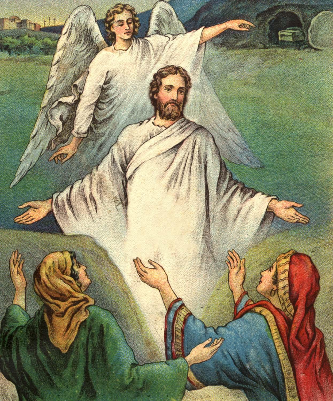 Bible Stories Resurrection of Christ | Bible Vector - 10 ...