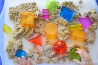 Sensorial Play with Kinetic Sand & Geometric Shapes