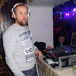 the DJ at Austur, Reykjavik in Reykjavik, Hofuoborgarsvaeoi, Iceland