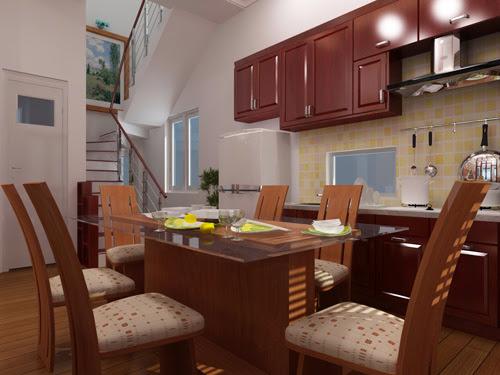 Bộ bàn ghế ăn theo phong cách hiện đại