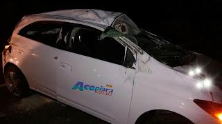 Urgente: Motorista perde o controle do veículo e capota por varias vezes na CE- 371 em Acopiara-Ce