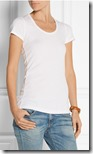 Splendid cotton modal blend slim fit white t-shirt