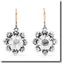 Bottega Veneta Sterling Silver and Crystal Earrings