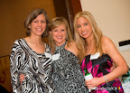 Leah Rennhack, president of the board, Westlake Academy Foundation; Brooke Nicholson; and Melanie Lekkos
