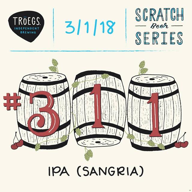 Troegs Releasing Scratch # 311 IPA (Sangria) & # 312 Pennsylvania Double Bock