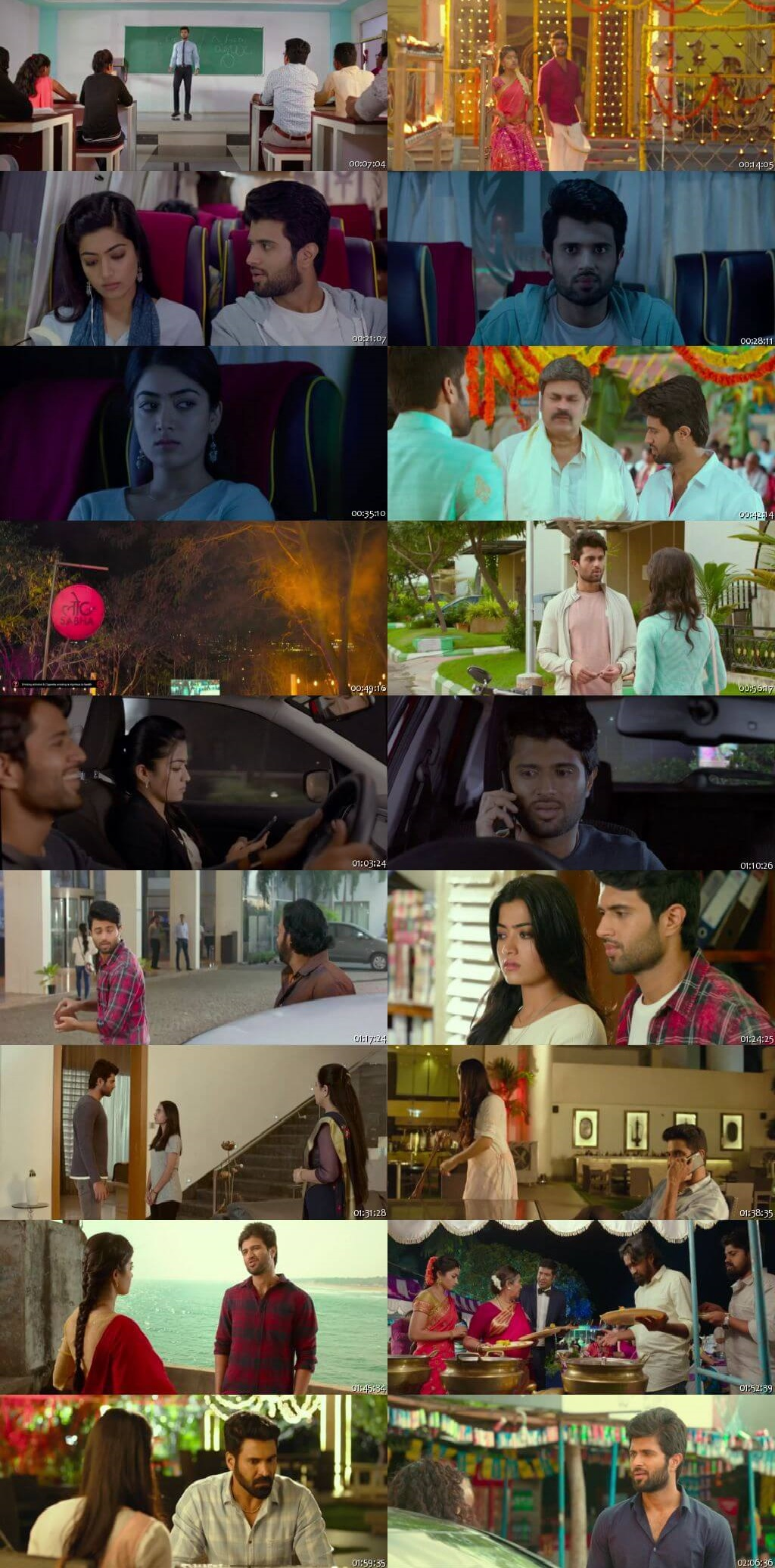 Screen Shot Of Tollywood Movie Geetha Govindam 2019 Full Movie In Hindi Dubbed Free download 720P HD
