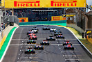 Start of the 2014 Brazilian F1 GP