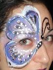 purple butterfly eye