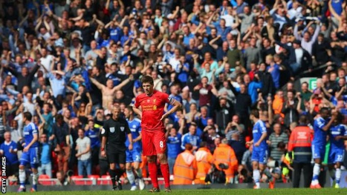"Steven Gerrard Speaks On ""THAT SLIP"" That Cost Liverpool Title In 2014"